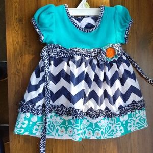 Baby girl boutique dress with matching bloomers